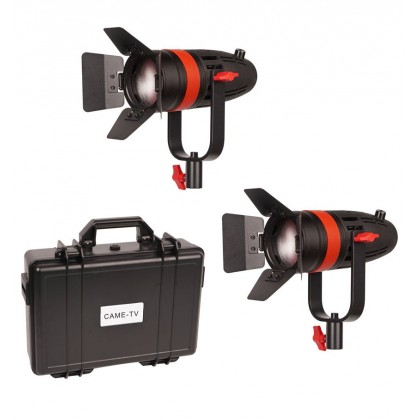 CAME-TV Boltzen 55w LED Video Light Fresnel Focusable Daylight 2pcs Kit (10000 LUX)
