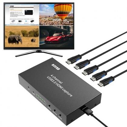 (Offer) Ezcap 4 Channel HDMI Live Stream Switcher Video Capture Card Multi-viewer Encoder
